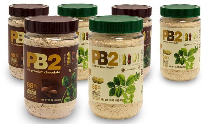 PB2 Powdered Peanut Butter (6-Pack): PB2 Powdered Peanut Butter; 6-Pack of 1lb. Jars