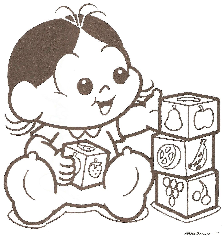 Desenhos Da Magali Baby Para Pintar E Imprimir Mickey Turma Da