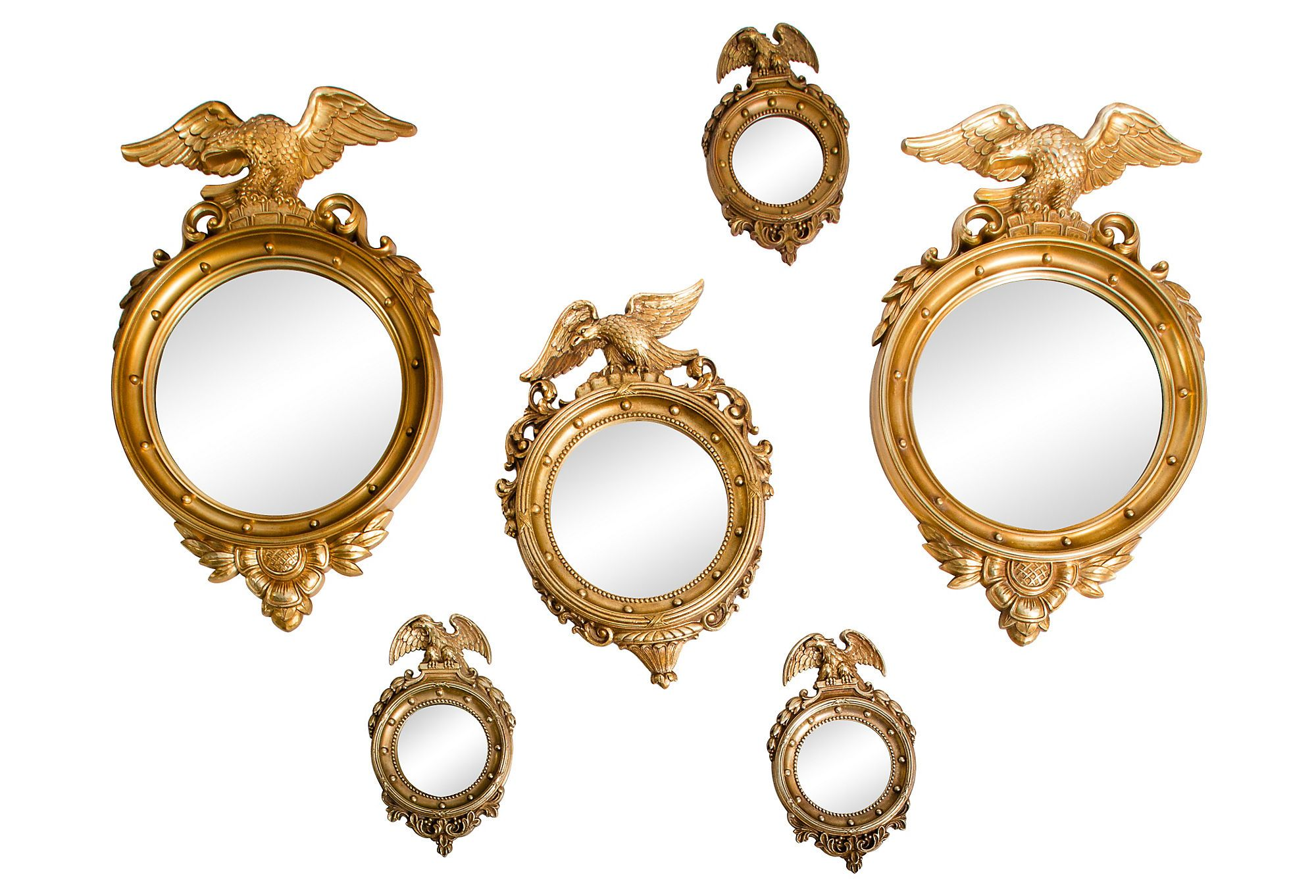Small Gold Mirror Set One Kings Lane Furniture Accents And Jewelry Gold