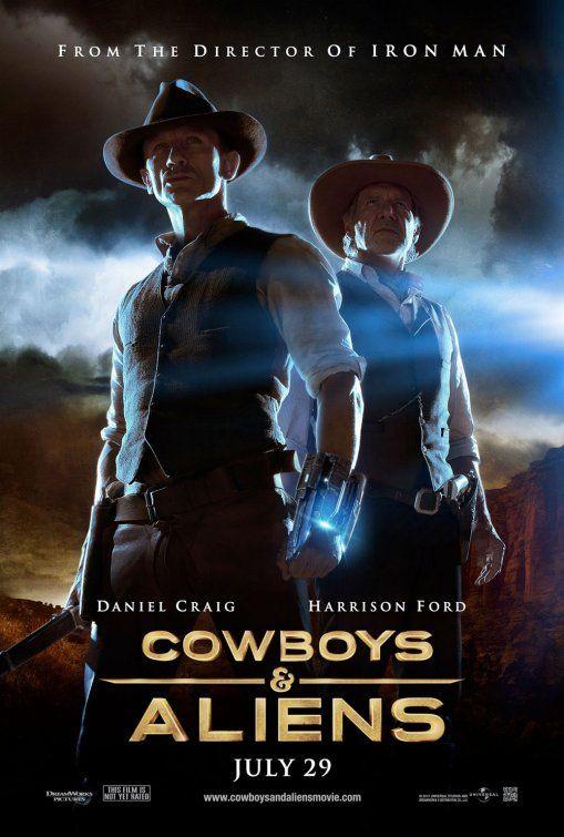 Inspiracao Cartazes De Cinema Cowboys Aliens Com Imagens