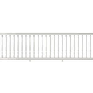 Veranda Premier Series 10 Ft X 36 In White Polycomposite Rail Kit With Colonial Balusters 73013183 The Home Depot In 2020 Vinyl Railing Deck Railing Diy Pvc Railing