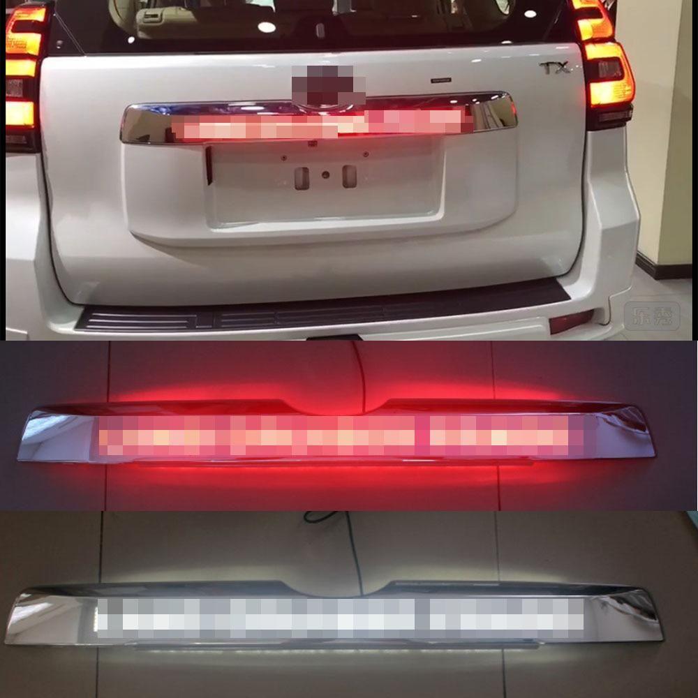 Car Chrome Led Trunk Lid Cover Braking Light Driving Light For