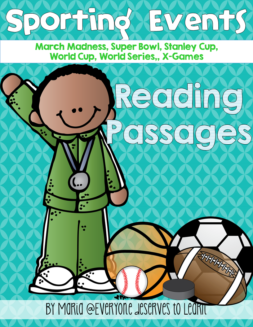 Super Bowl March Madness World Series X Game World Cup Stanley Cup Reading Vocab Reading Passages Fiction Reading Passages Reading Comprehension Passages [ 1056 x 816 Pixel ]