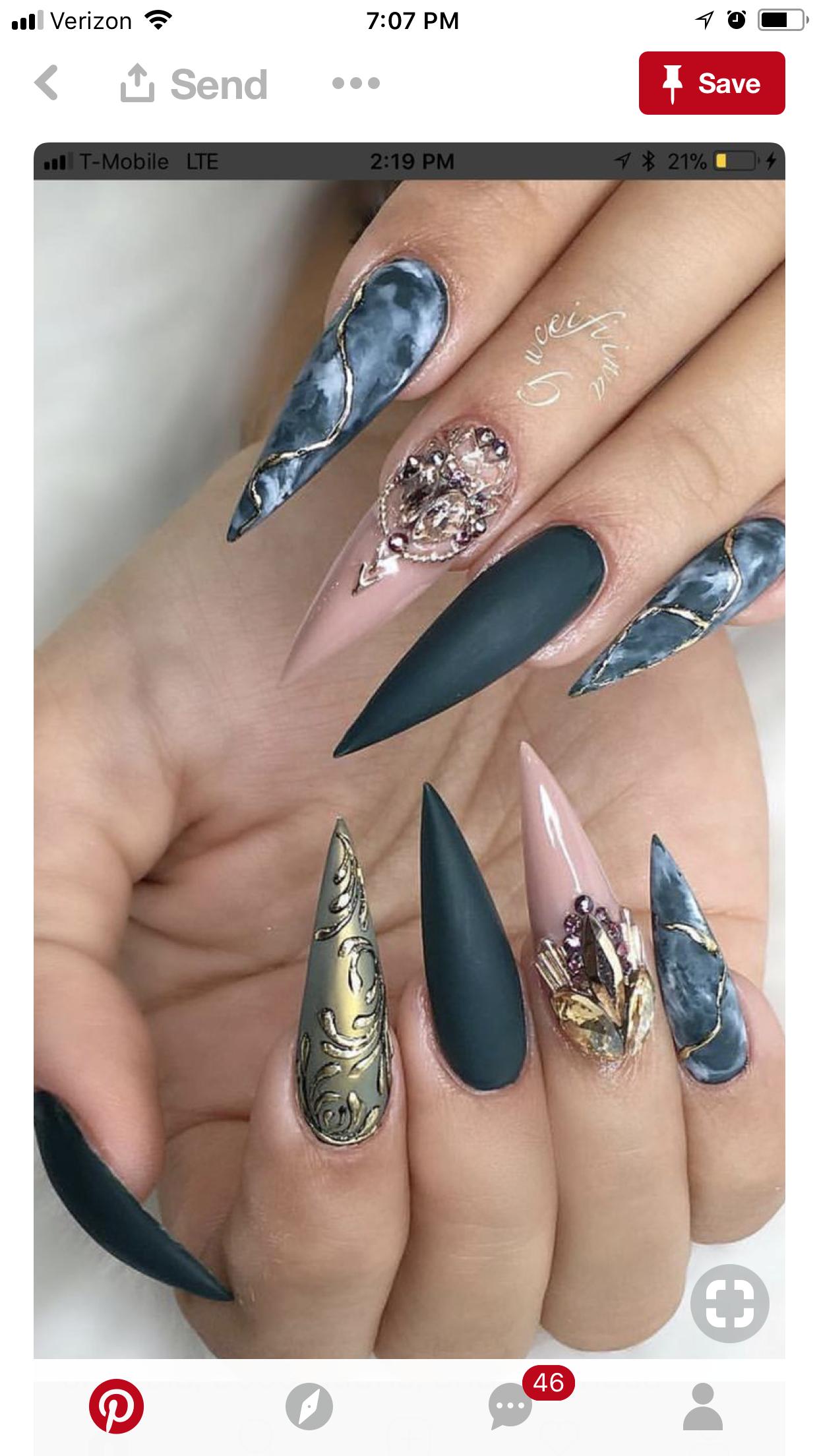 Pin by Karen Gonzalez on Nails | Pinterest | Teal nail designs, Nail ...