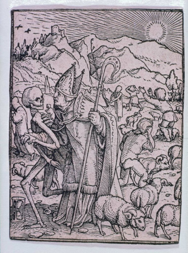 Hans Holbein, the Younger (German, 1497 or 1498–1543), Hans Luetzelburger (German, 1522) The Bishop (Dance of Death) | Museum of Fine Arts, Boston