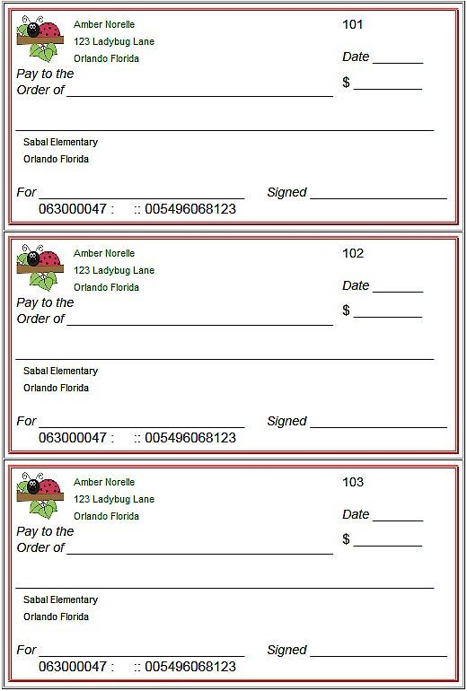 Blank Checks Template - Printable Play Checks for Kids Blank check - new 13 create a bank statement free