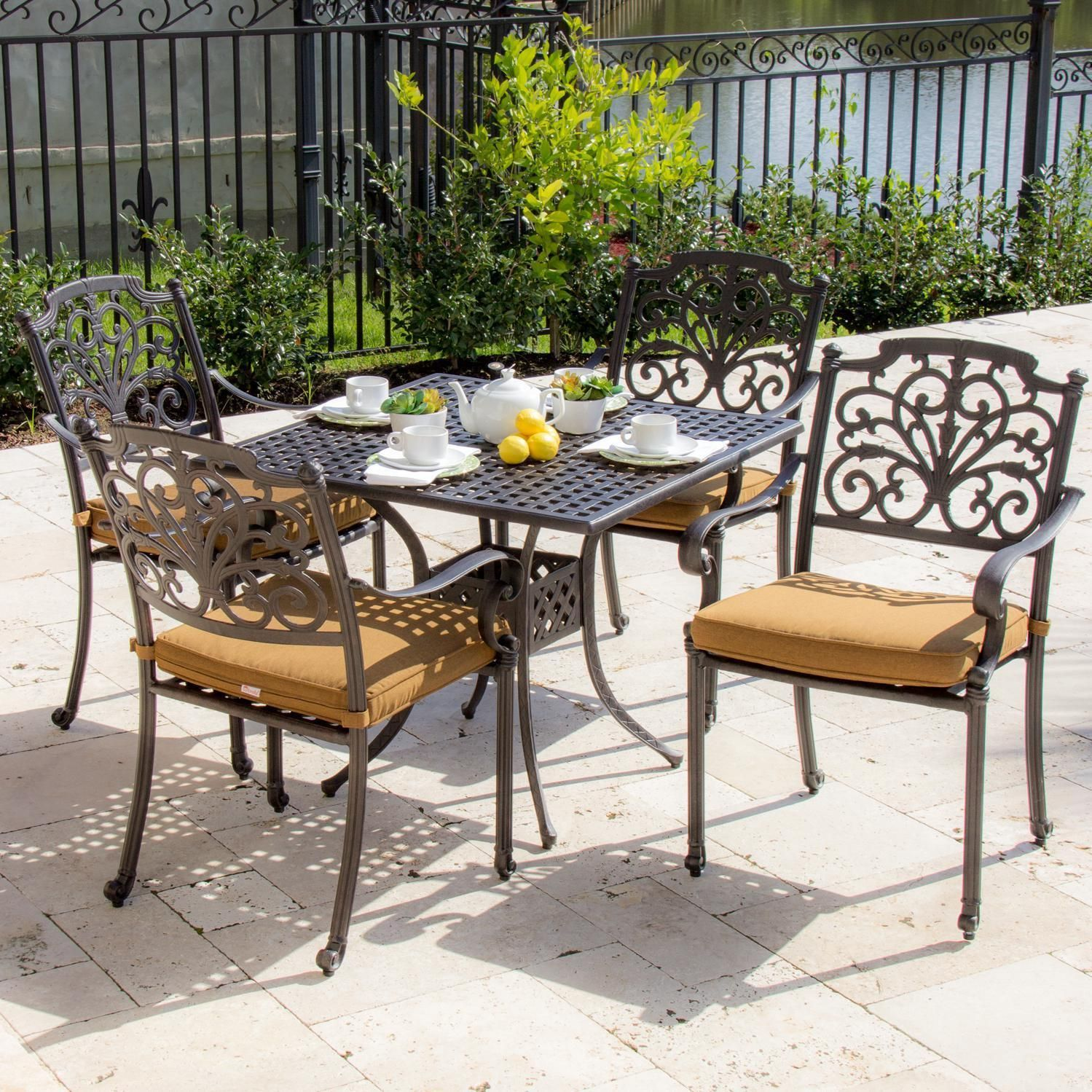 Lakeview Outdoor Designs Evangeline Cast Aluminum 4 Person Patio