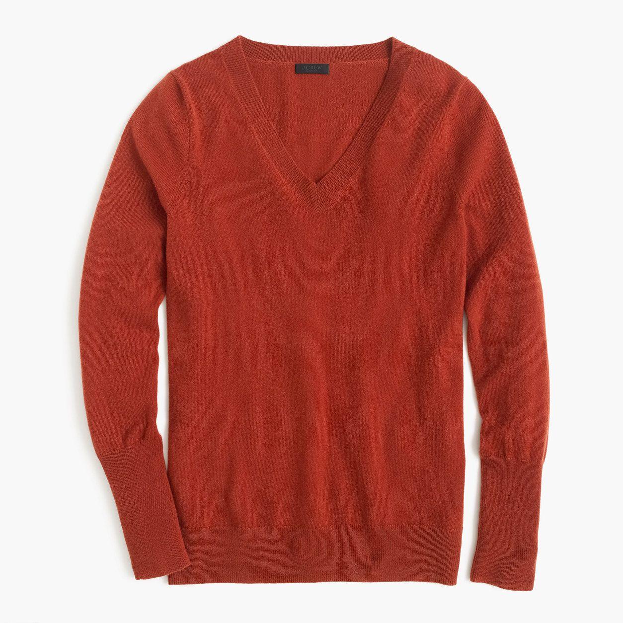 J.Crew Womens Italian Cashmere Classic V-Neck Sweater (Size XXS ...