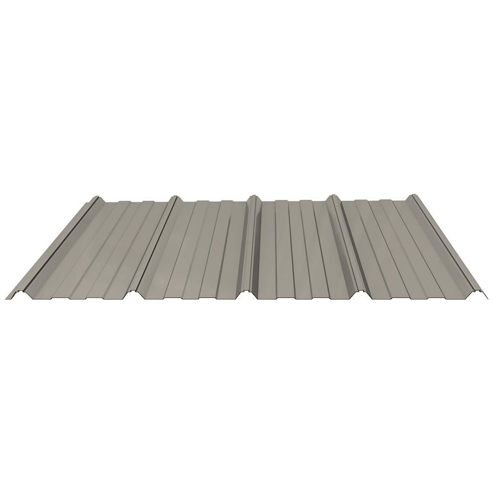 Fabral Shelterguard 10 Ft Exposed Fastener Steel Roof Panel In Hickory Moss 0410116179 The Home Depot Steel Roof Panels Roof Panels Metal Roof