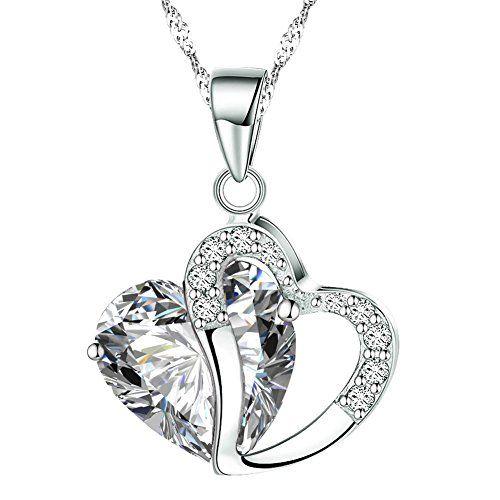 KATGI Fashion White Gold Plated Diamond Accent Austrian Crystals Heart Shape Pendant Necklace (White) KATGI http://www.amazon.com/dp/B00KMKSRVC/ref=cm_sw_r_pi_dp_SS66ub06B6TMP