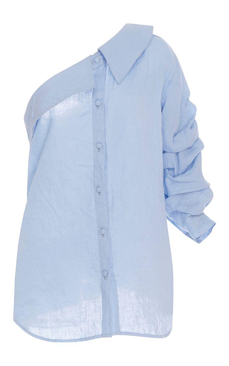 M'o Exclusive Malibu One Shoulder Shirt by JOHANNA ORTIZ for Preorder on Moda Operandi