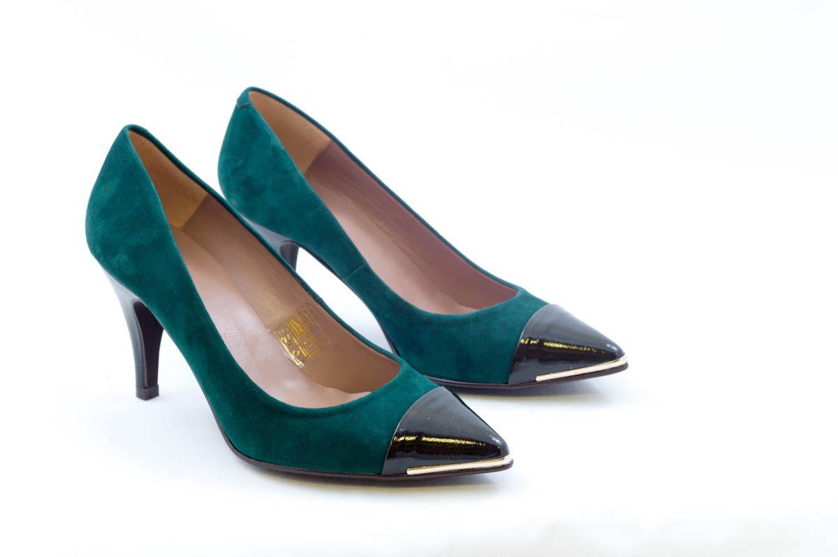 Punta Verde 5vBOR zapatos Tacón Color En Ante Verde Zapato Charol z1qt4IWnwx