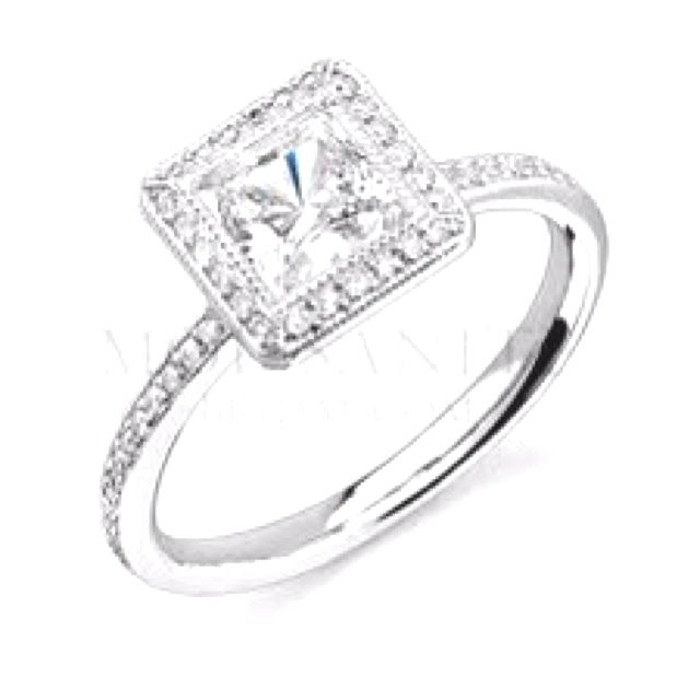 Moissanite Princess Cut Halo Engagement Ring Er Than Traditional Diamonds More Sparkle Nearly Just As Hard