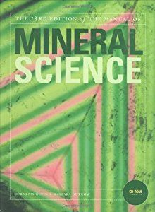 Manual Of Mineral Science 22nd Edition Manual Of Mineralogy Science Books Sell Textbooks