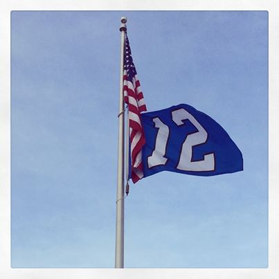A recent addition to our flag pole at Kia of Puyallup. Who says it can't be Blue Friday during the offseason? #BlueFriday #GoHawks