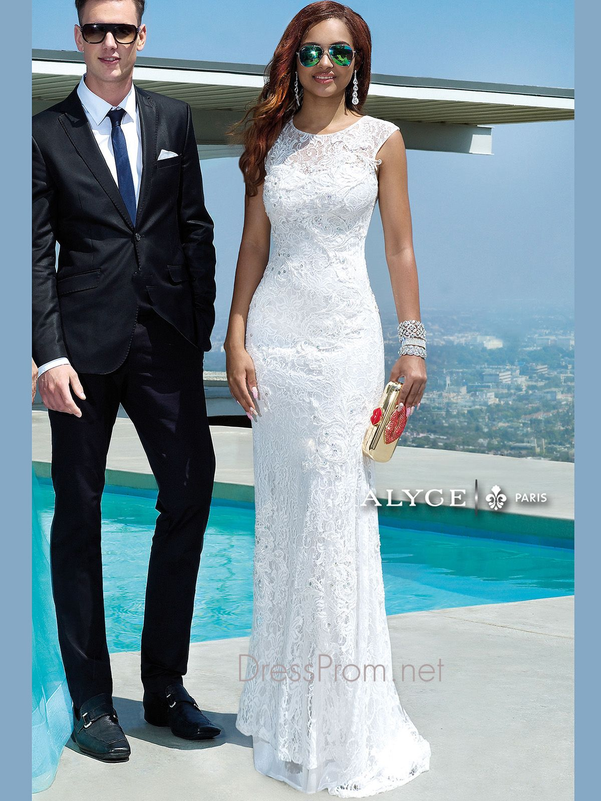 Available in all the top prom dress colors, the Claudine prom gown ...