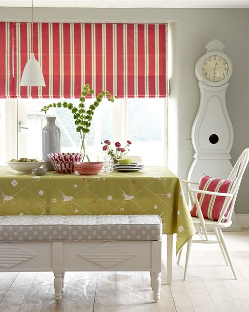 Made To Measure Roman Blinds   Patterned, Striped Or Plain. For Kitchen U0026  Bathroom