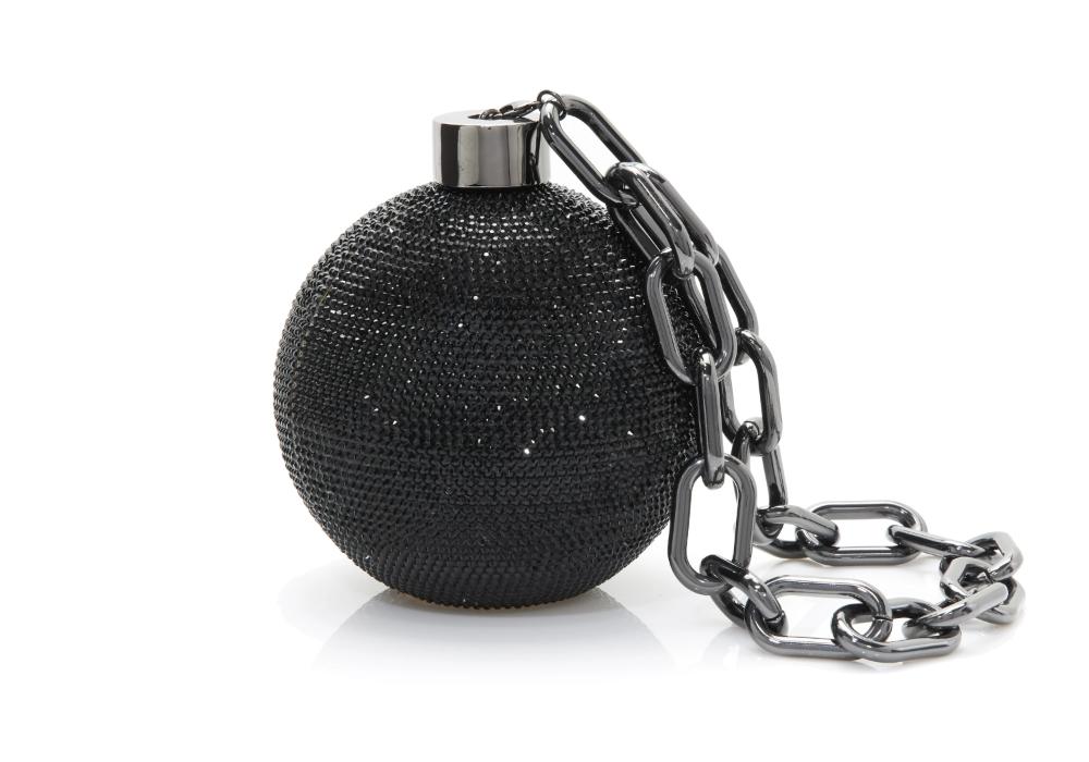 Sphere Ball Chain Judith Leiber Couture Novelty Clutch Novelty Handbags