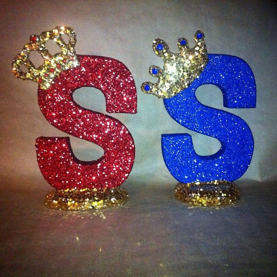sparkle letter with crown royal themed decoration for party decorations photo props baby showers table numbers princess and prince s letter images stylish alphabets alphabet images s letter images