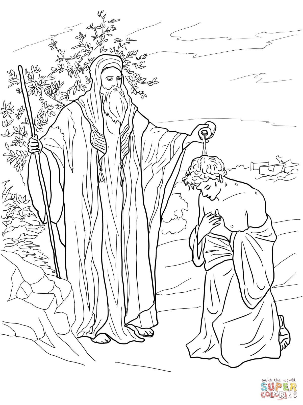 Samuel Anoints Saul As King Coloring Page From Category Select 27278 Printable Crafts Of Cartoons Nature Animals Bible And Many More