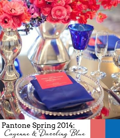 Dazzling Blue And Cayenne - Pantone Spring 2014 Colour Report