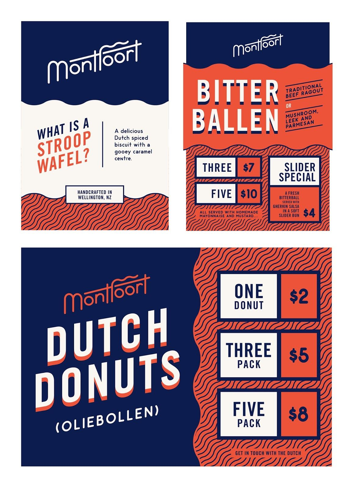 playful blue red patterned donut product flyer idea venngage