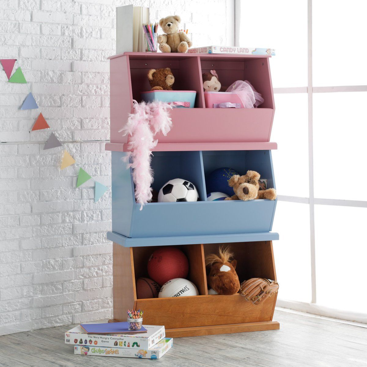 Classic Playtime Stackable Toy Storage   Kids Furniture at