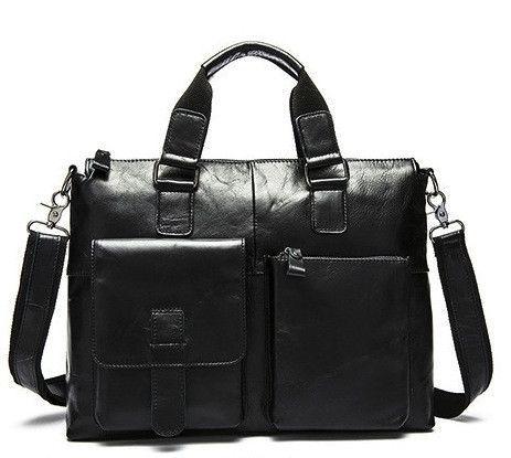 Genuine Leather Men's Briefcase