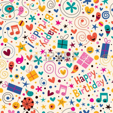 Stock Vector Birthday Background Cute Happy Birthday Happy