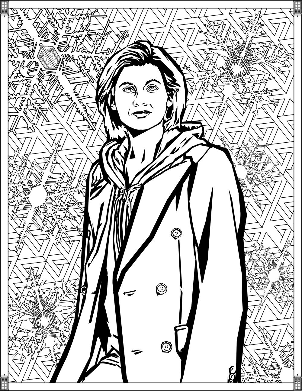 Doctor Who Wibbly Wobbly Timey Wimey Coloring Pages Printables