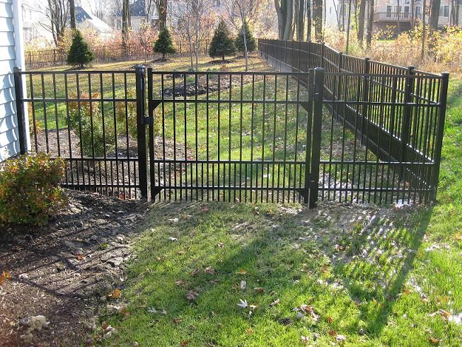 Smooth Top Aluminum Fence Gate W Doggie Panel Fences