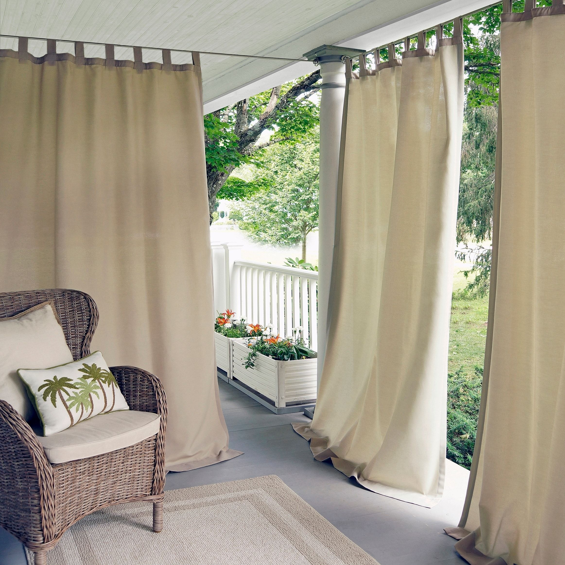 outdoor with n grommet products xx panel curtain panels grommets sunbrella bay nickel brown