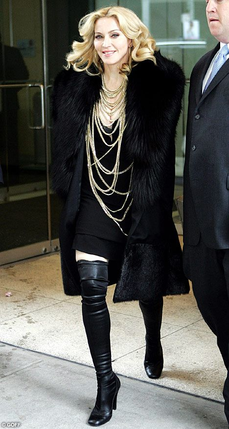 Queen Of Bling Madonna Joins The A Team As She Steps Out Draped