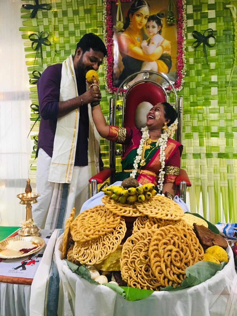 South Indian Baby Shower Decorations : south, indian, shower, decorations, Vidhya, Pillai, Poojari,, South, Indian, Shower,, Mangalorean, Seeman..., Vidh…, Showers,, Shower, Decorations,