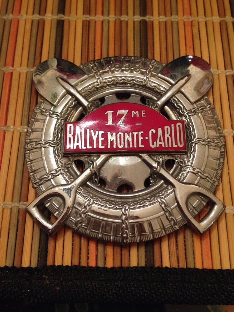 1938 monte carlo rallye rally participant 39 s badge plaque. Black Bedroom Furniture Sets. Home Design Ideas