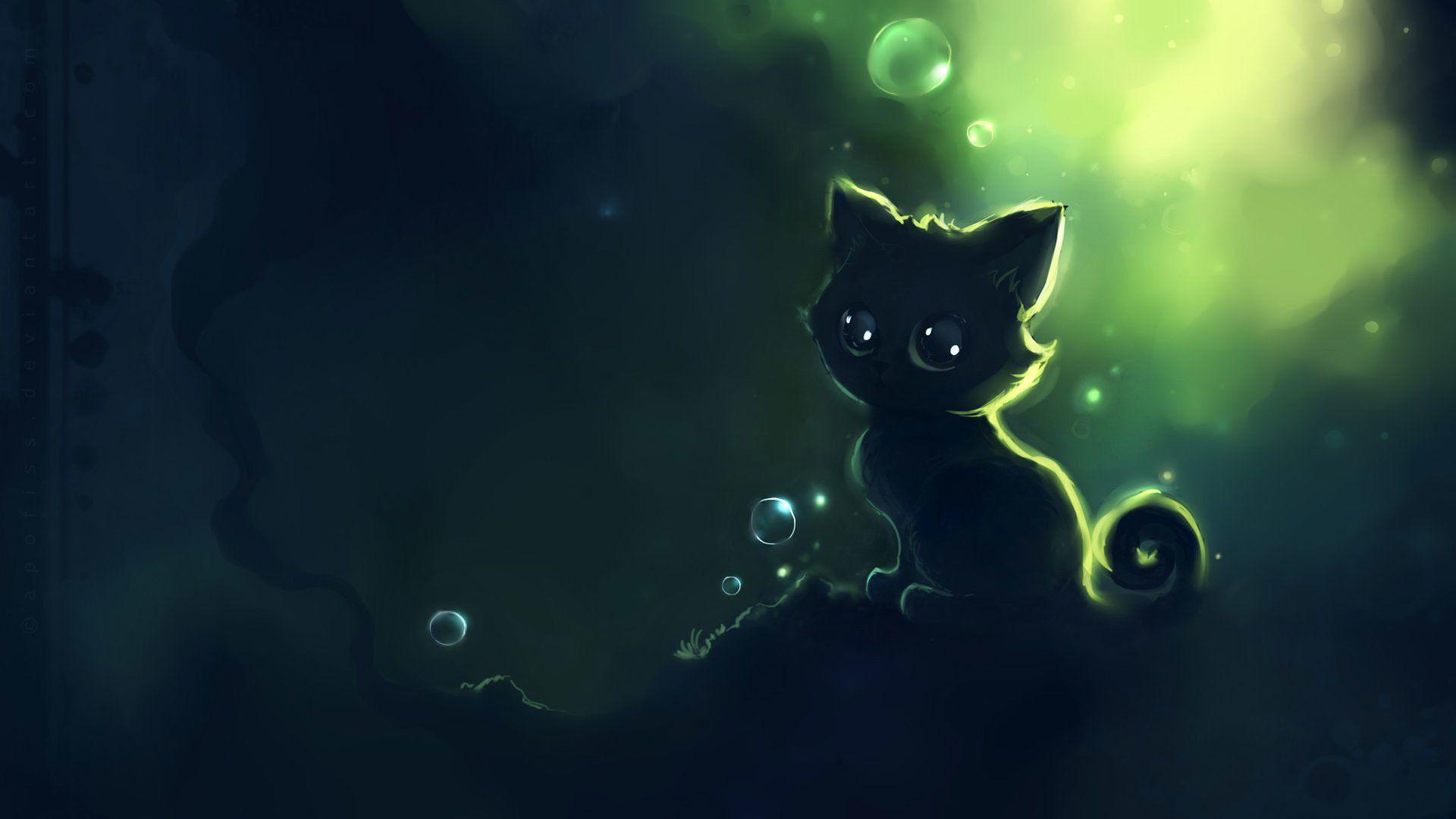 1920x1080 Cartoon Wallpapers Images Hd 1080p Cute Anime Cat Anime Kitten Cat Art