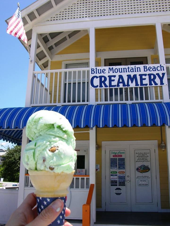 Blue Mountain Beach Creamery At The Corner Of 30a And Hwy 83 Has The Best Ice Cream Santa Rosa Beach Florida Blue Mountain Santa Rosa Beach