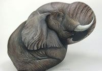 Hand painted rocks.Wildlife animals painted on stone. WOW. Painted by talented artist Ernestina Gallina