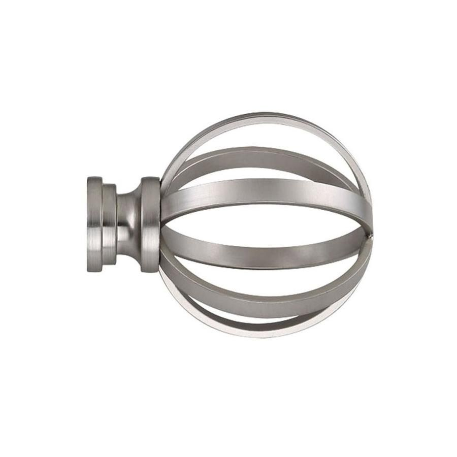 Allen Roth 2 Pack Brushed Nickel Steel Curtain Rod Finials