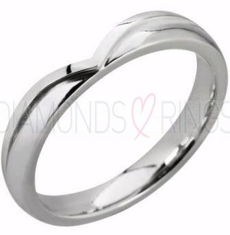 Shaped Wedding Bands Raised Edge Off High Street Prices Free Delivery Price Match Gurantee Best On Rings