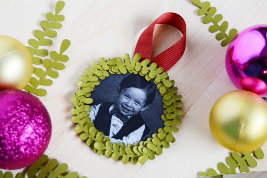 Mini Wreath Photo Ornament