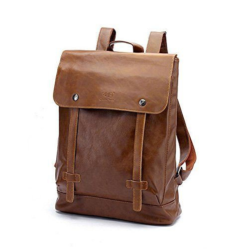 CORLISS Casual Stylish Mens Womens Fuax Leather Backpack Satchel ...
