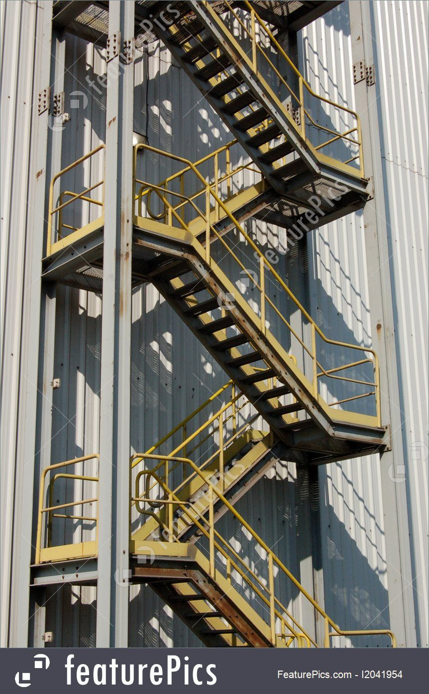 Best Architectural Details Industrial Staircase Stock Image 640 x 480