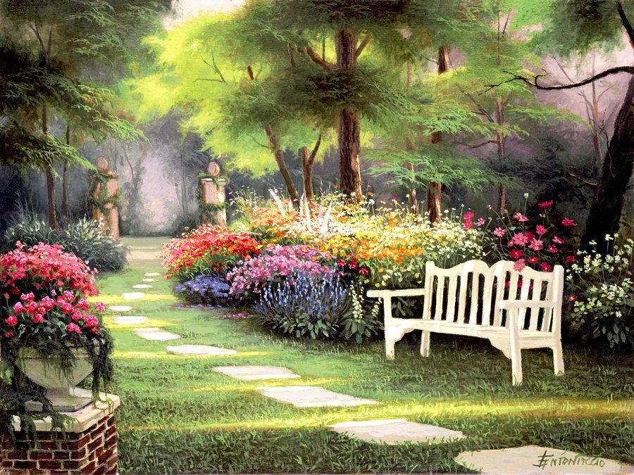 famous flower garden paintings - Pesquisa Google | Chairs ...