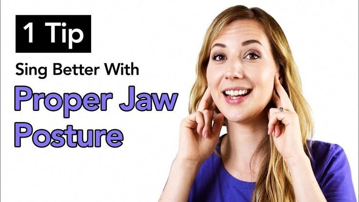 how to relieve jaw tension while singing