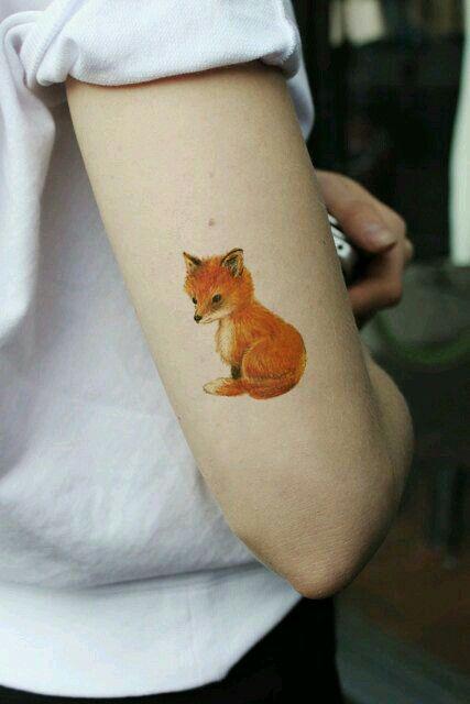 Small Fox Tattoos Tatuajes Zorro Tatuaje De Zorro Tatuajes