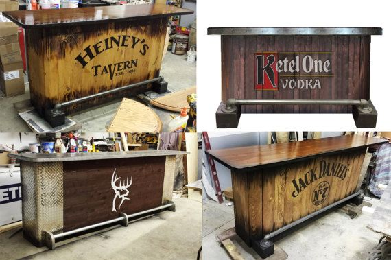 Man Caves Jim Beam : Custom home bar hand built rustic whiskey pub man cave bars