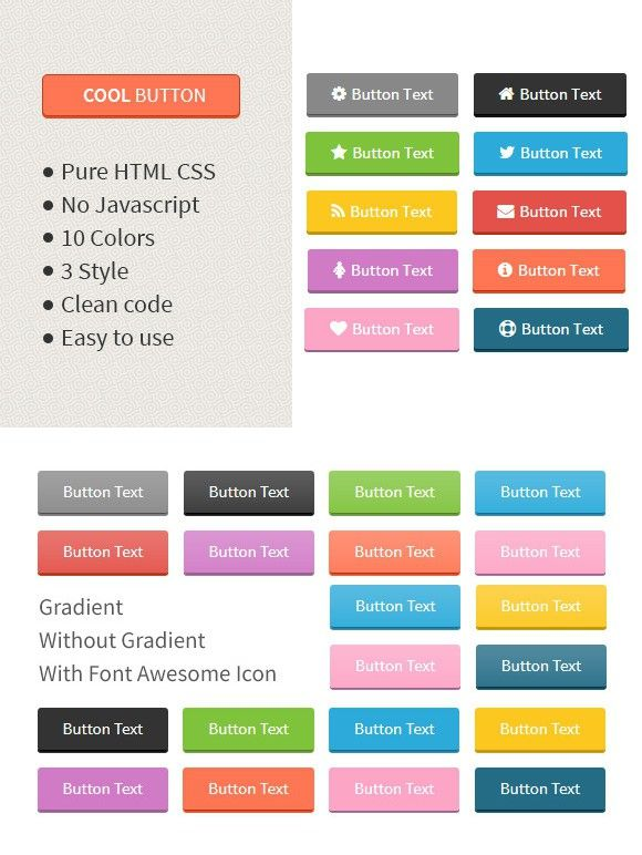 Cool Button Html Amp Css Button Html Css Themes 5 00 Html Css Css Cool Buttons