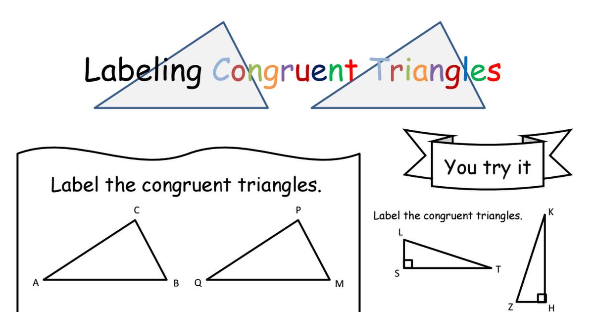 Congruent Triangles w/ Algebra, graph Notes pdf | High School