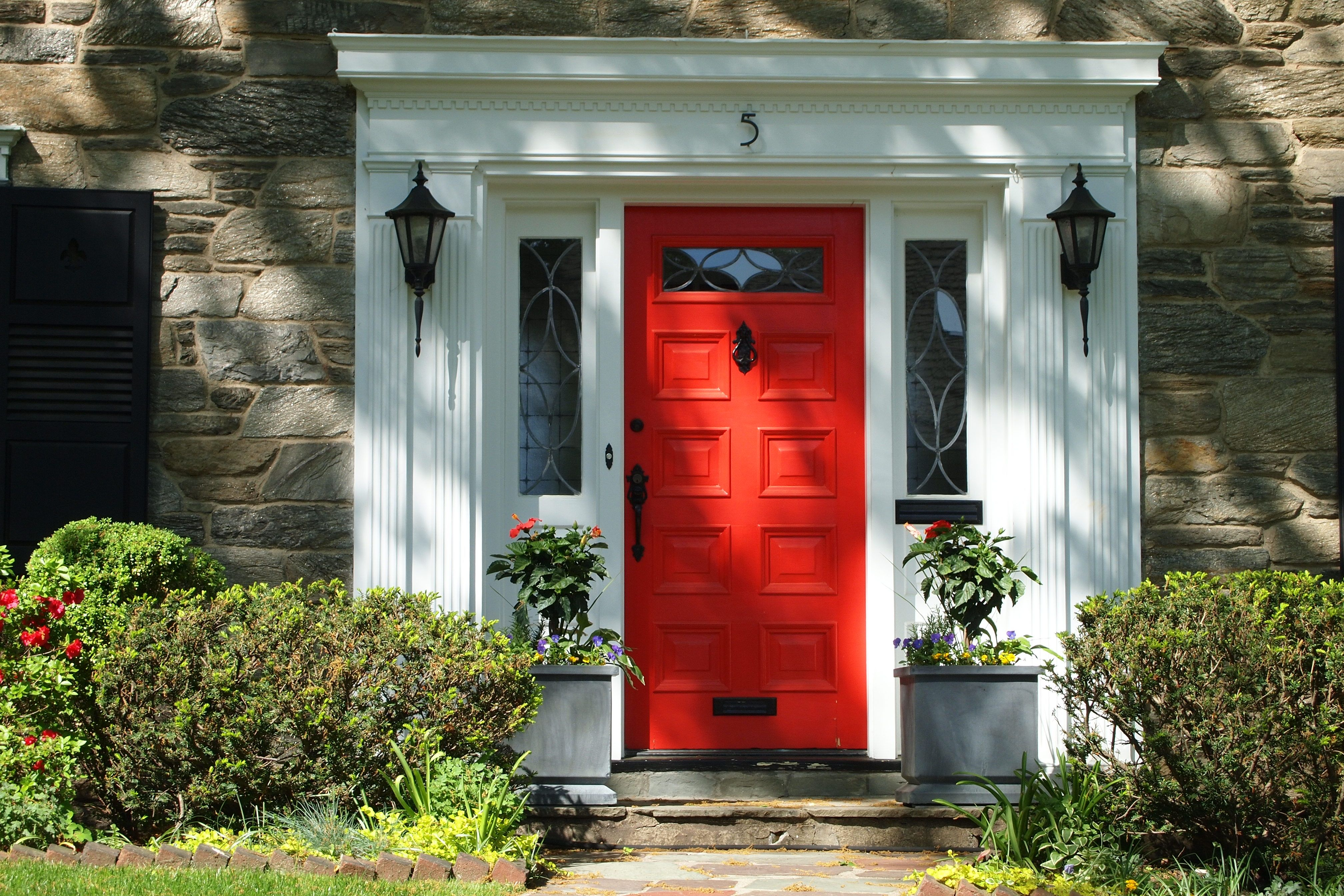 The Red Doors Of Maplewood Doors Front Doors And Front Entry